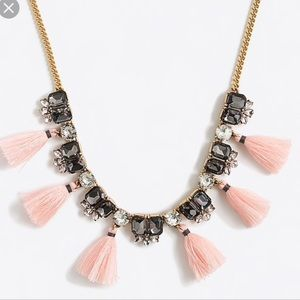 NWOT! J. Crew Gemstone Tassel Necklace